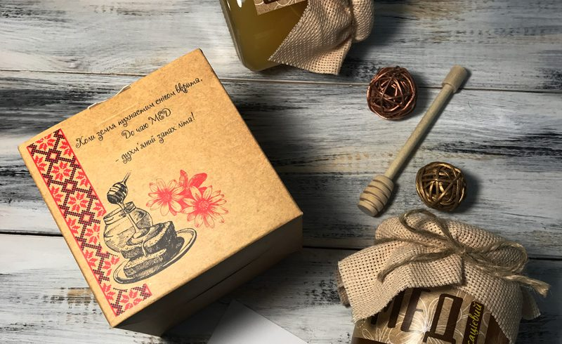 Крафтовая коробка с медом для Uni-Laman Group